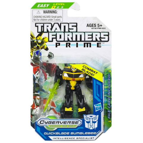 Transformers Prime Cyberverse Legion Class 2 011 Quickblade Bumblebee Intelligence Specialist Battle Blade Box Package Front