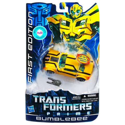Transformers Prime First Edition HUB Sticker Deluxe 001 Bumblebee Box Package front USA hasbro