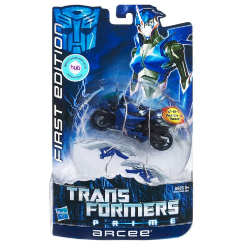 Transformers Prime First Edition Hub Sticker Deluxe 002 Arcee Box Package Front USA Hasbro
