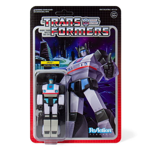 Super 7 ReAction Transformers G1 Autobot Jazz Box Package Artwork