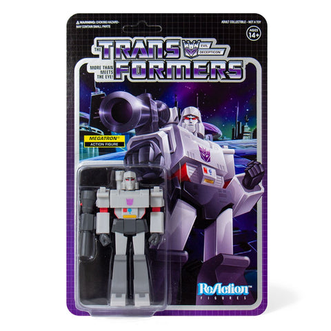 Super 7 Reaction Transformers Generation 1 G1 Megatron Box Package