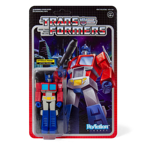 Super 7 ReAction Transformers G1 Optimus Prime Figure Box Package