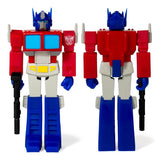 Super 7 ReAction Transformers G1 Optimus Prime Figure Front Back