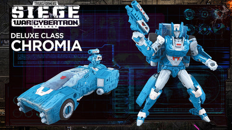 Transformers War for Cybertron Siege Deluxe Autobot Chromia Promo