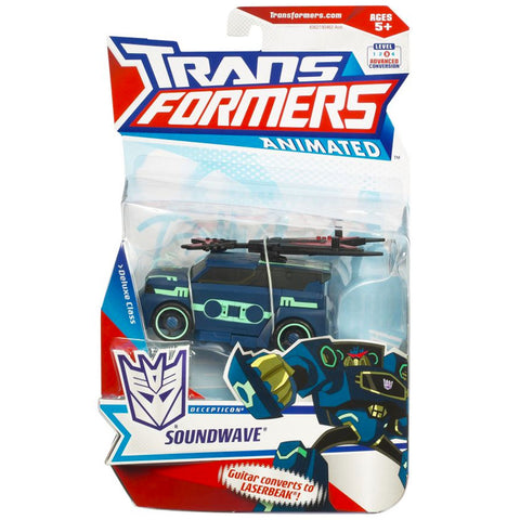 Transformers Animated Deluxe Soundwave Laserbeak USA Box package front