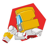 Transformers Botbots Series 1 Greaser Gang Spud Muffin #12 Character Art