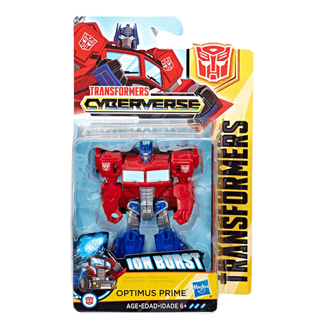 Transformers Cyberverse Scout Class Optimus Prime Toy Box
