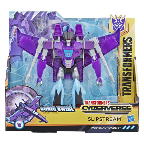 Transformers Cyberverse Ultra Class Decepticon Slipstream package box