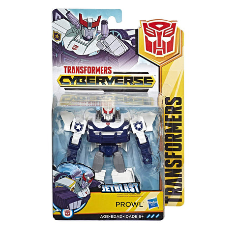 Transformers Cybververse Warrior class Autobot Prowl box package