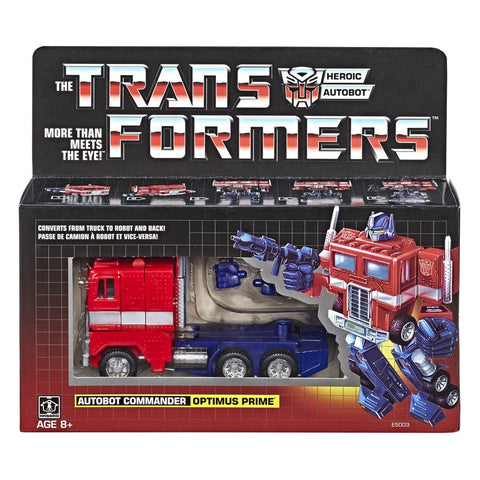 Transformers vintage G1 Generation 1 reissue Autobot Commander Optimus Prime no trailer box package