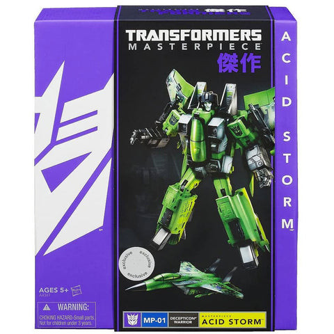 Transformers Masterpiece MP-01 Decepticon Warrior Acid Storm Toys R Us Exclusive Box Package Front Hasbro USA