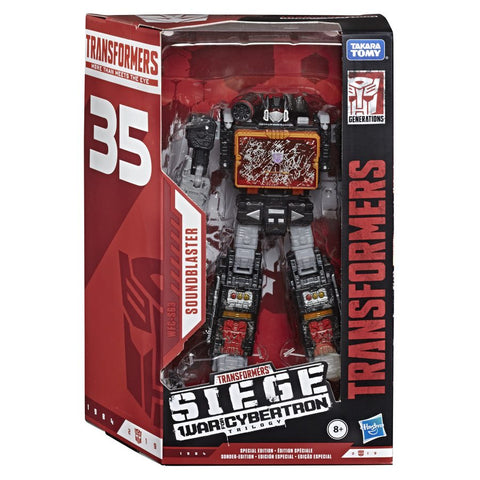 Transformers War for Cybertron WFC-S63 Soundblaster Box Package