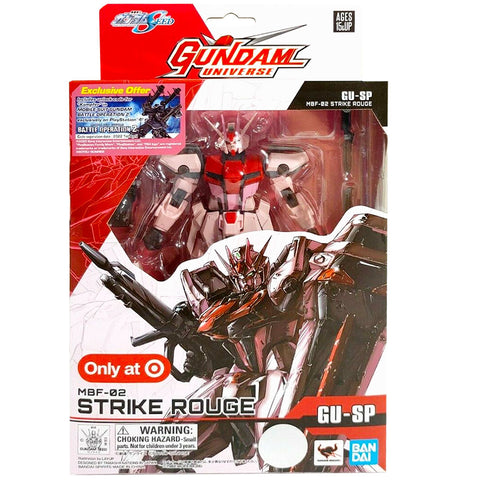 Bandai Gundam Universe Mobile Suit SEED GU-SP MBF-02 Strike Rouge Target Exclusive box package front