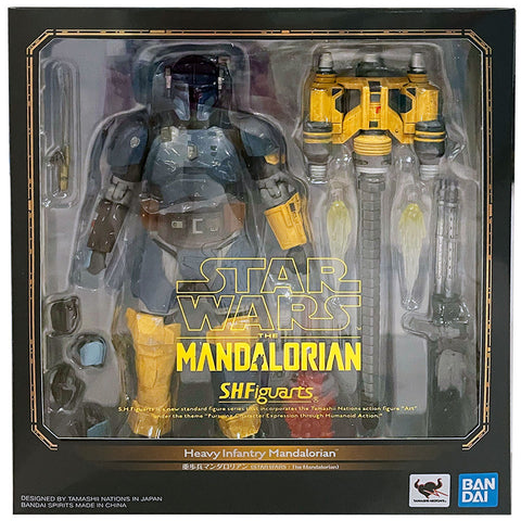 Bandai S.H. Figuarts Star Wars Heavy Infantry Mandalorian Japan Box Package Front