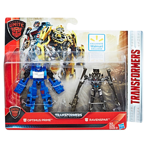 Transformers The Last Knight Autobots Unite Legion Optimus Prime and Ravenspar