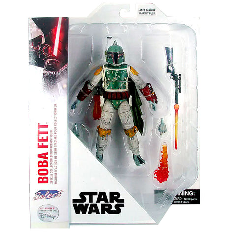Diamond Select Star Wars Special Collector Edition Boba Fett Disney Store exclusive box package front