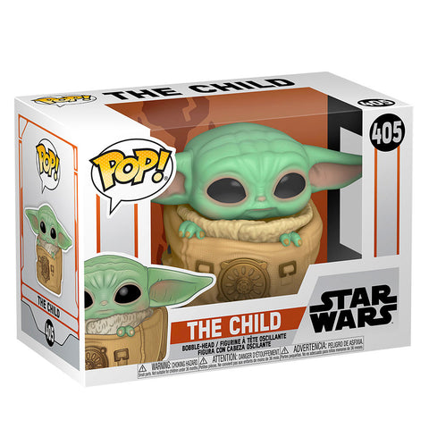 Funko Pop! 405 Star Wars The Child wiht bag Mandalorian box package render