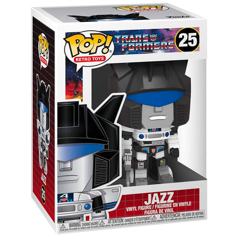 Funko Pop! Retro Toys 25 Transformers G1 Jazz Box Package Render Front