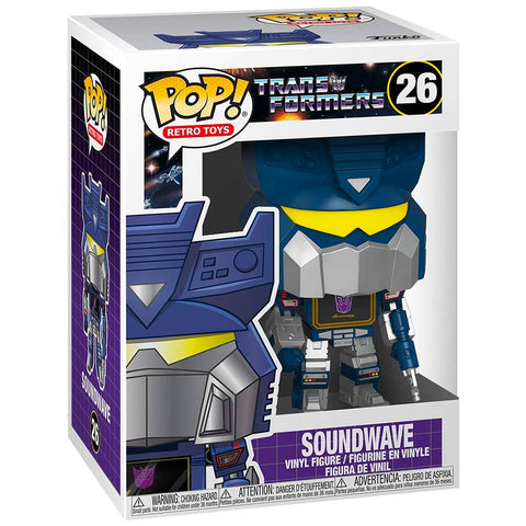 Funko Pop! Retro Toys 25 Transformers G1 Soundwave box package render front