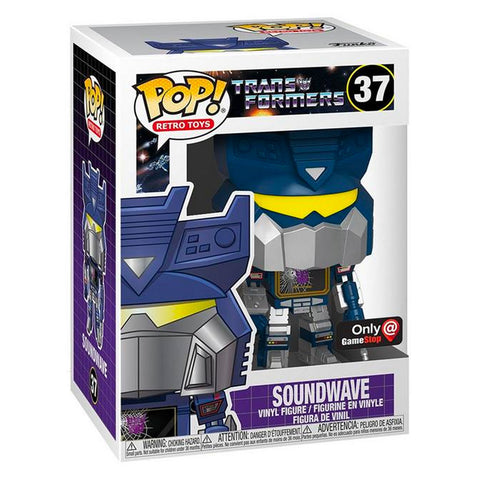 Funko Pop! Retro Toys 37 Transformers G1 Soundwae Gamestop Exclusive Box Package Render
