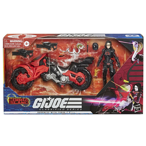 G.I. Joe Classified Series 13 Baroness with Cobra C.O.I.L. vehicle giftset Box Package Front