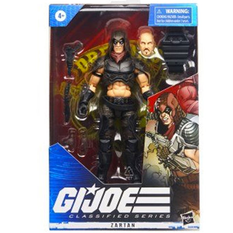 Hasbro G.I. Joe Classified Series Zartan box package front