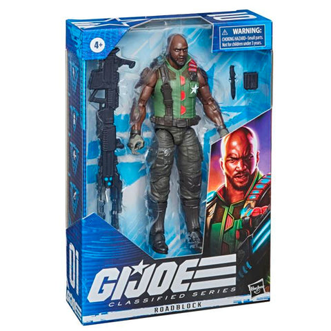 Hasbro G.I. Joe Classified Series 01 Roadblock 2021 redeco box package angle