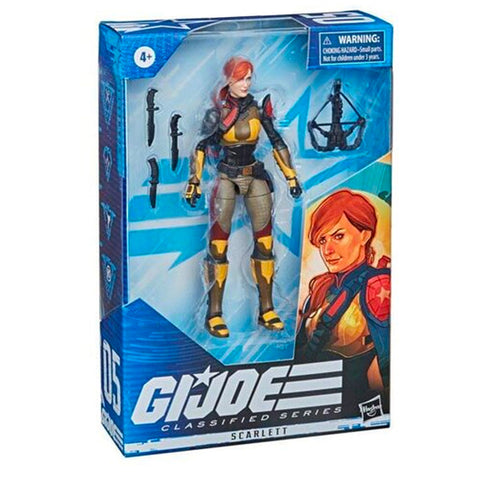 Hasbro G.I. Joe Classified Series 05 Scarlett 2021 redeco box package front angle