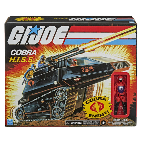 Hasbro G.I. Joe Retro Cobra H.I.S.S. Tank & Driver walmart exclusive box package fromt