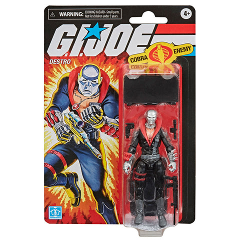 Hasbro G.I. Joe Retro Series Destro Walmart exclusive box package front