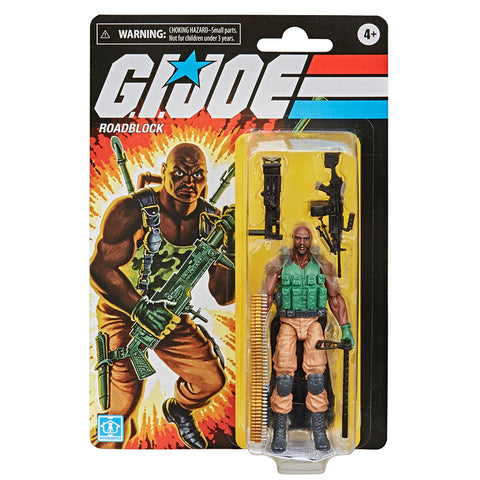 Hasbro G.I. Joe Retro Roadblock Walmart Exclusive box package front