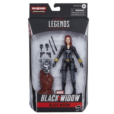 Hasbro Marvel Legends Series Black Widow Black Suit Crimson Dynamo Box Package Front