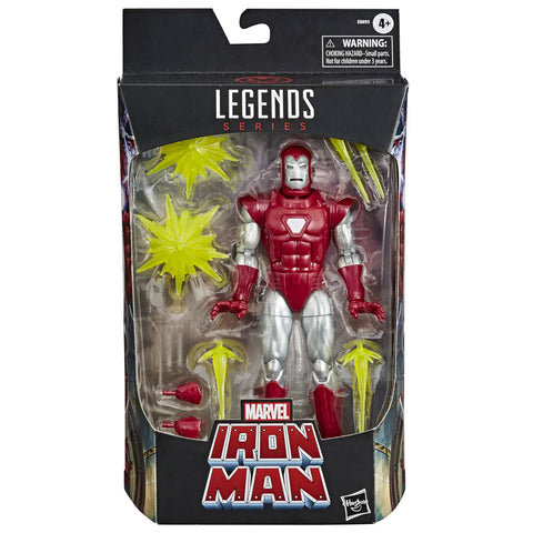 Hasbro Marvel Legends Iron Man Silver Centurion Walgreens Exclusive box package front 6-inch