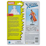 Hasbro Marvel Legends Retro Collection X-men Gambit Target Exclusive box package back
