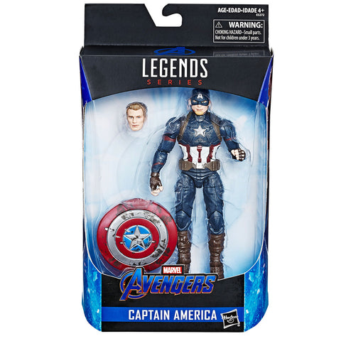 Hasbro Marvel Legends Series Avengers Worthy Captain America box package front