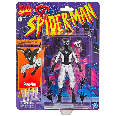 Hasbro Marvel Legends Vintage Collection Grayscale Spider-Man Negative Zone Target exclusive 6-inch box package front