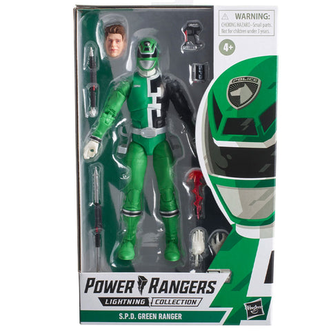 Hasbro Power Rangers Lightning Collection S.P.D. Green Ranger Box Package Front