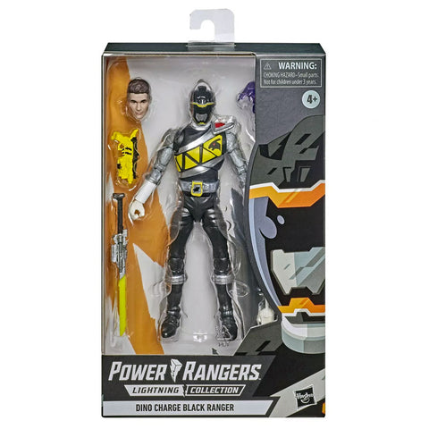 Hasbro Power Rangers Lightning Collection Dino Charge Black Ranger box package Front