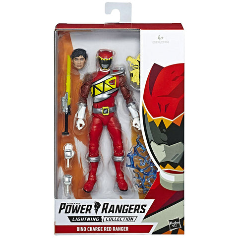 Hasbro Power Rangers Lightning Collection Dino Charge Red Ranger Box Package Front