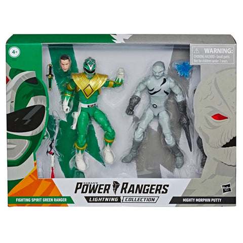 Hasbro Power Rangers Lightning Collection Fighting Spirit Green Ranger vs Mighty Morphin Putty 2-pack box package Front