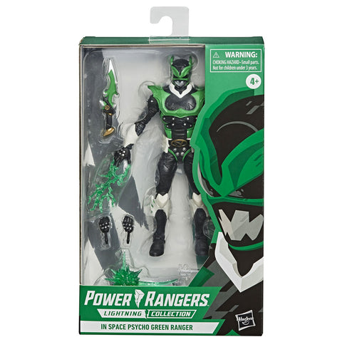 Hasbro Power Rangers Lightning Collection in Space Psycho Green Ranger Box Package Front