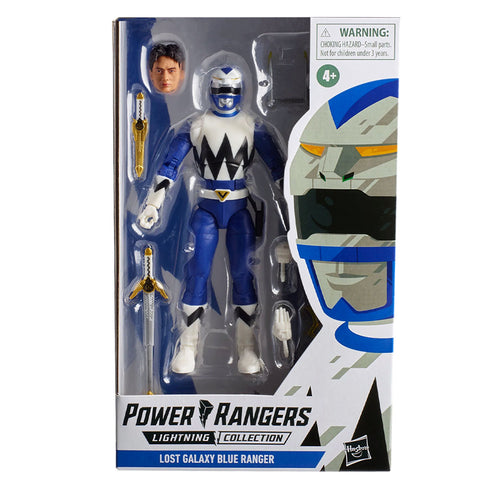 Hasbro Power Rangers Lightning Collection Lost Galaxy Blue Ranger Box Package Front