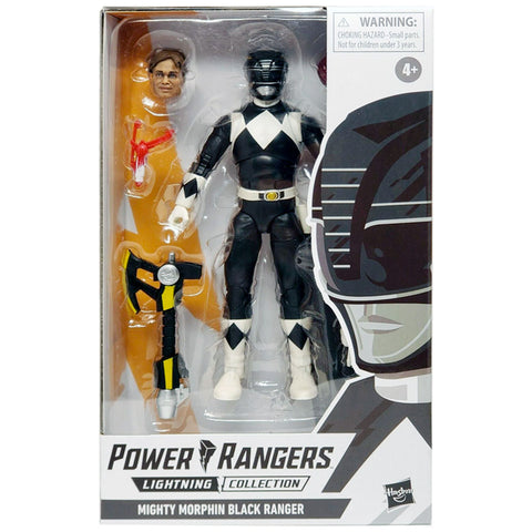 Hasbro Power Rangers Lightning Collecticon Mighty Morphin Black Ranger Box Package Front
