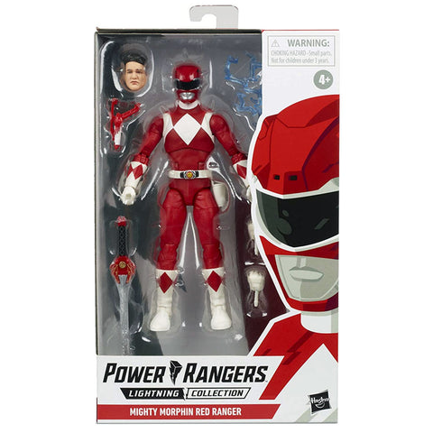 Hasbro Power Rangers Lightning Collection mighty morphin red ranger box package front 6-inch