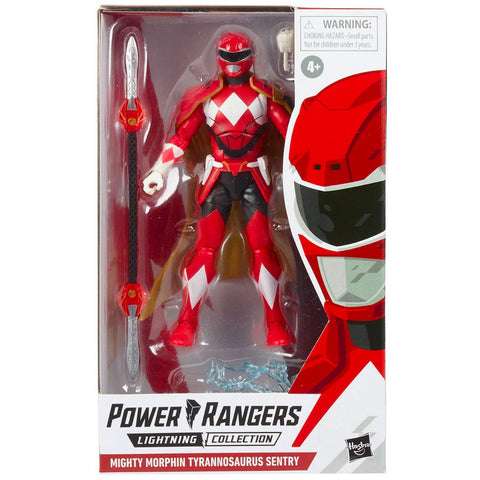 Hasbro Power Rangers Lightning Collection Mighty Morphin Tyrannosaurus Sentry Red Ranger Target Exclusive box package front