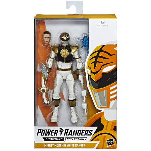 Hasbro Power Rangers Lightning Collection Mighty Morphin White Ranger Box Package Front