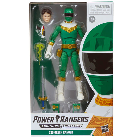 Hasbro Power Rangers Lightning Collection Zeo Green Ranger Box package Front