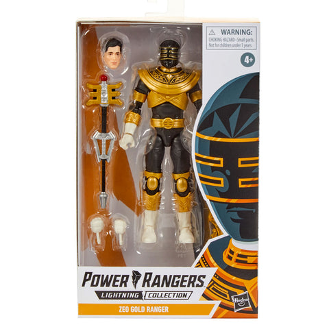 Hasbro Power Rangers Lightning Collection Zeo Gold Ranger Box Package Front