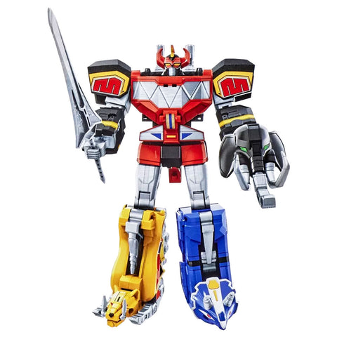 Hasbro Power Rangers Mighty Morphin Megazord Combiner robot toy zord complete set bundle
