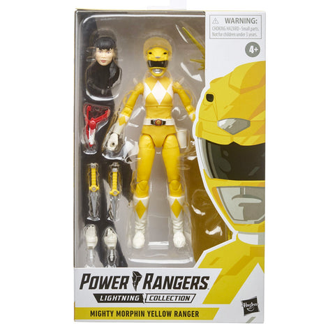 Hasbro Power Rangers Lightning Collection Mighty Morphin Yellow Ranger Box Package Front